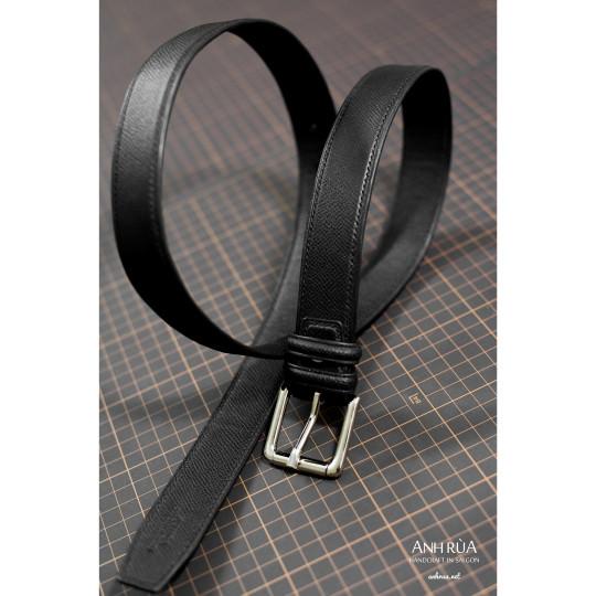 Thắt Lưng Nam Da Bê Black Belt MTO AR