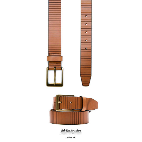 Dây Nịt Thắt Lưng Nam Light Brown Belt Allen Edmonds