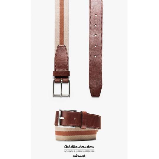 Dây Nịt Thắt Lưng Nam Medium Brown webbing Belt Cole Haan