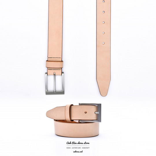 Dây Nịt Thắt Lưng Nam Natural Leather Harness Leather Belt Allen Edmonds