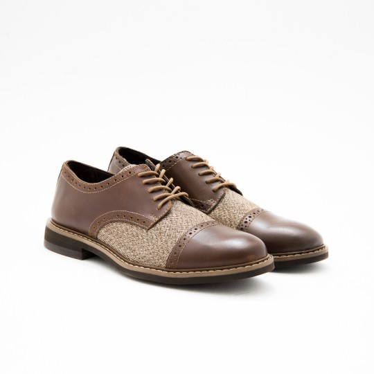 Medium Brown Derby Captoe Brogues BASS