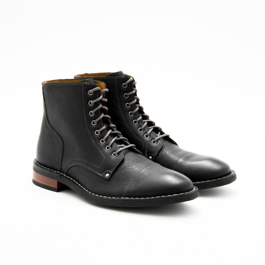 Black Captoe Dress Boots Cole Haan