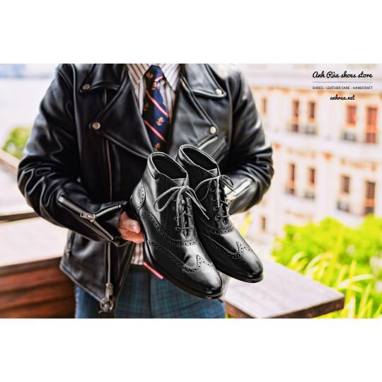 Giày Bốt Nam Black Dress boots Brogues Cole Haan