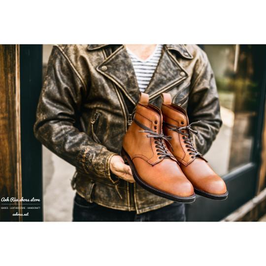 Giày Bốt Nam Light Cognac Plaintoe Boots Alden