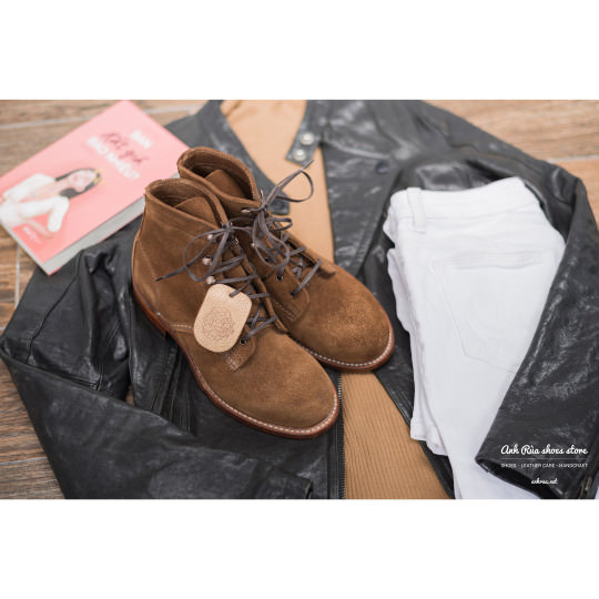 Giày Bốt Nữ Light Brown Suede 1000 Mile Boots Wolverine