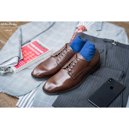 Giày Tây Nam Medium Brown Plaintoe Derby Allen Edmonds
