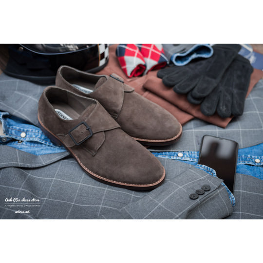 Giày Tây Nam Taupe Single Monkstrap KCNY