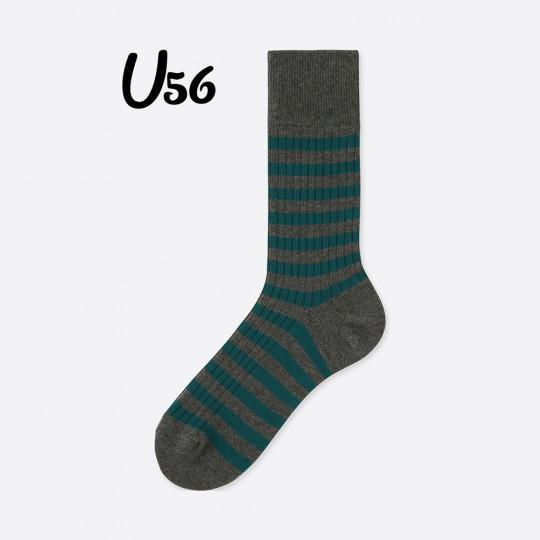Green Bold Line Socks Uniqlo