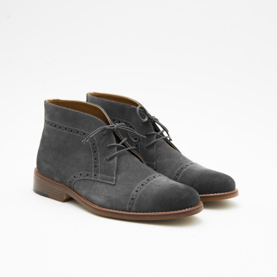 Grey Half Brogue Chukkas BASS