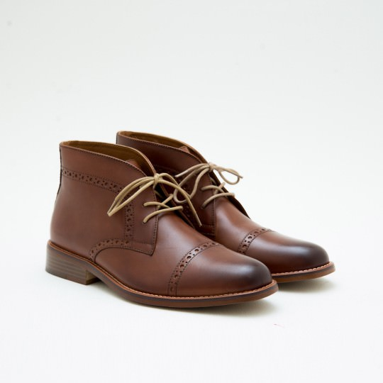 Light Brown Half Brogue Chukkas BASS