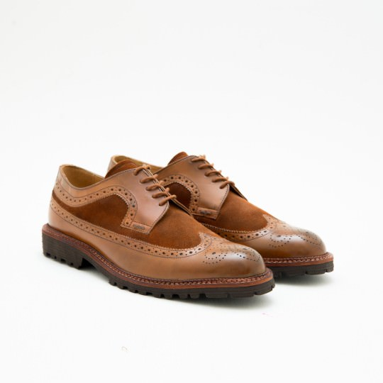 Giày Tây Nam Light Brown Longwing Full Brogues KCNY
