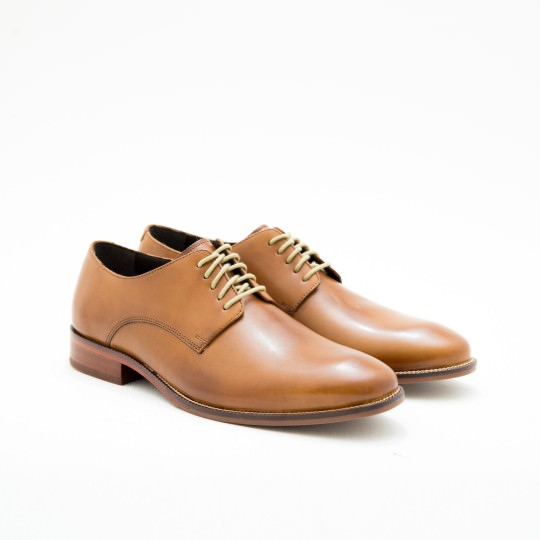 Light Brown Plaintoe Derby Cole Haan