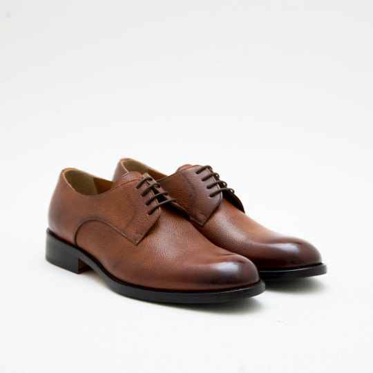 Light Brown Plaintoe Derby KCNY