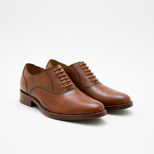 Light Cognac Plaintoe Oxfords Cole Haan