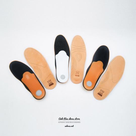 Lót giày bằng da cừu cao cấp màu nude theo dáng chân Saphir