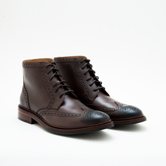 Medium Brown Full Brogues Dress Boots Cole Haan