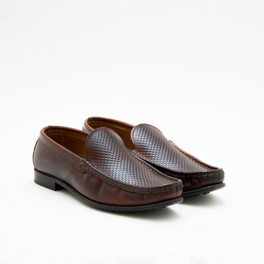 Medium Brown Moctoe Loafers KCNY