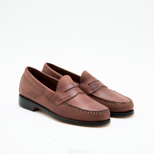 Medium Brown Penny Loafers BASS