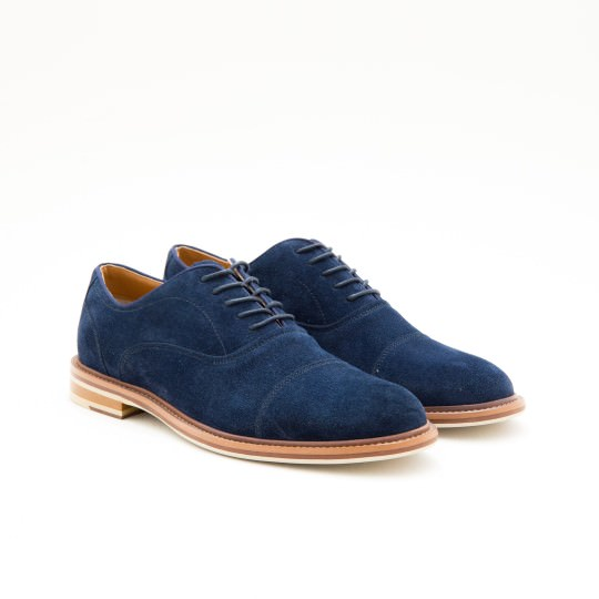 Navy Suede Captoe Oxfords ALDO