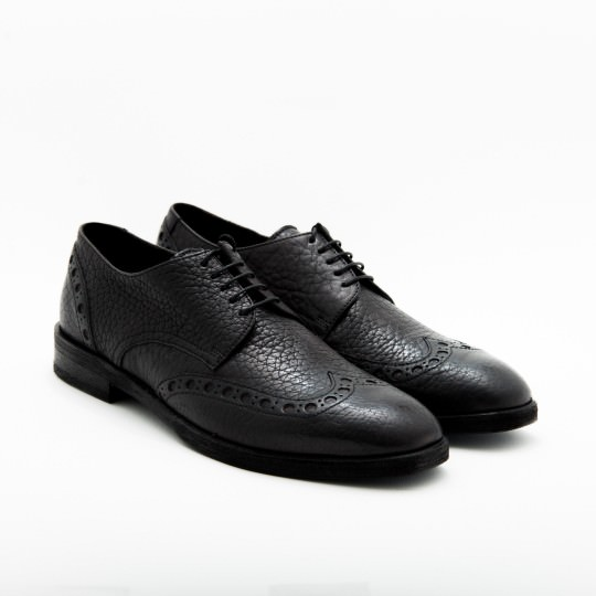 Black Derby Wingtip brogues KCC