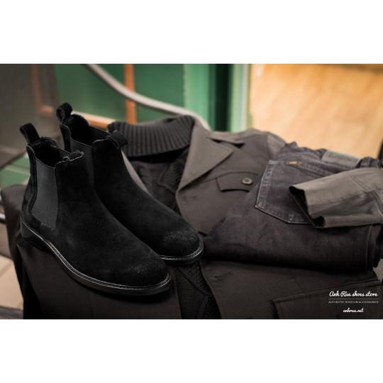 Giày Bốt Nam Suede Black Chelsea Boots Polo Ralph Lauren