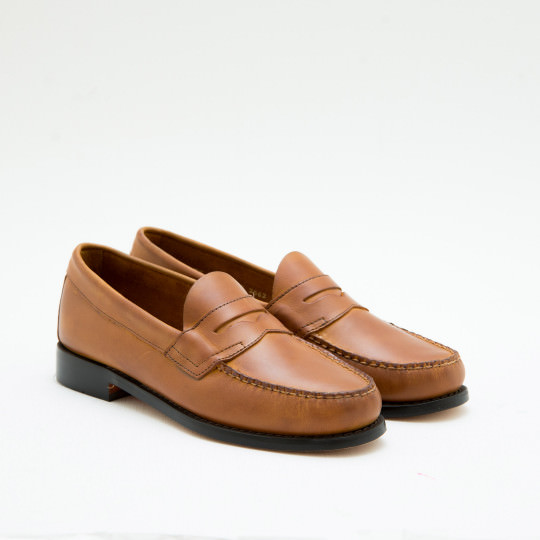Tan Penny Loafers BASS