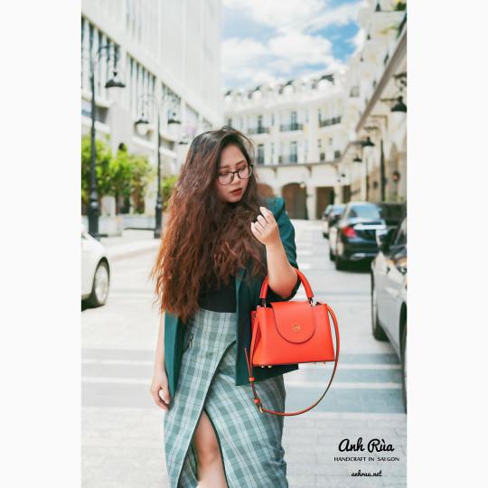 Túi Xách Tay Nữ Da Bê Handbag MTO AR