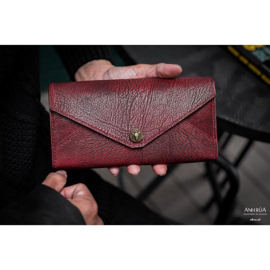 Ví Dài Nam Da Dê Red Long Wallet MTO AR