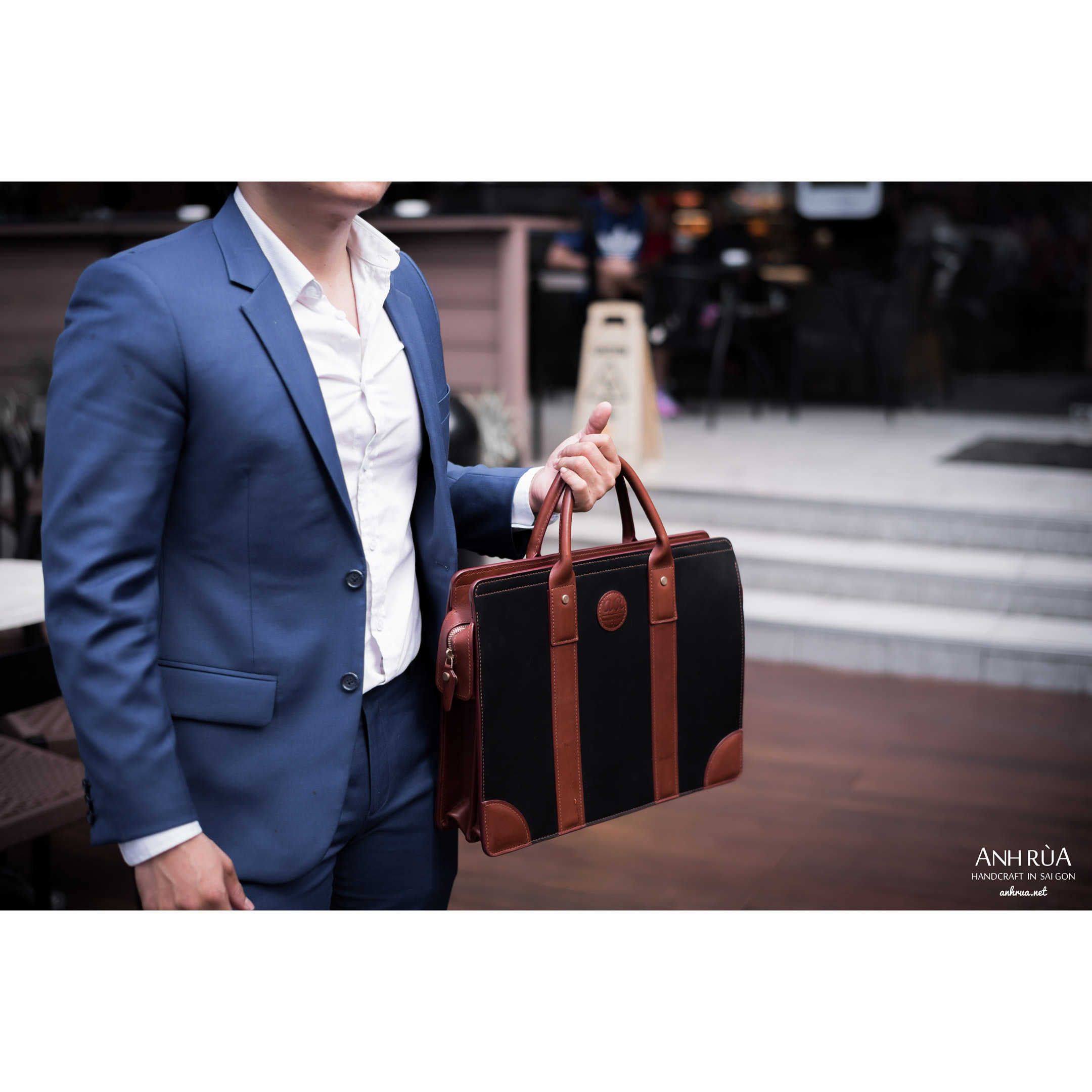 Túi Xách Công Sở Da Bò Briefcase MTO AR